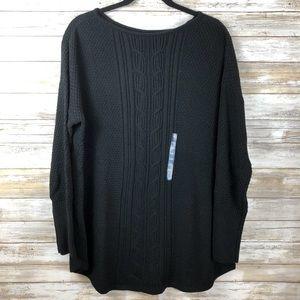 Chaps XXL Long Sleeve Black Sweater